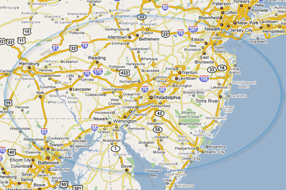 Tri State Area Towing Coverage Map. on state art, state building, state sports, state history, state home, state control,